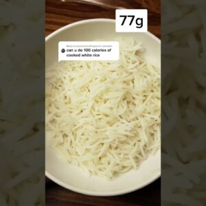 What 100 Calories of Cooked White Rice Looks Like