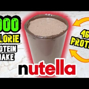 1000 CALORIE NUTELLA PROTEIN SHAKE // HIGH PROTEIN HIGH CARB MUSCLE & WEIGHT GAIN SHAKE