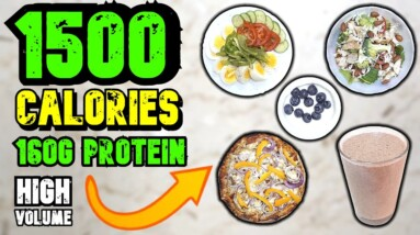1500 Calorie Meal Plan   Super High Protein Diet For Fat Loss