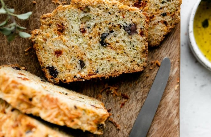 gluten free olive bread with parmesan and sun dried tomatoes